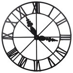 """A&B Home - Vintage Looking Clock, 46x2.5"""" - A&B Home, Inc. is a family owned business founded in 1993 that is recognized as an international leader within the home decor, furniture, garden and seasonal product categories. A&B Home has a robust reputation for designing and distributing thousands of new products each year which combine strong design, quality and sharp price points that deliver excellent value to their customer base. A&B Home has a team of talented designers that are collaborating to offer home decor and home accents to fit any and every style."""