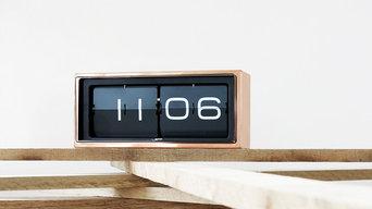 Leff Amsterdam - Brick Copper Black Wall Desk Clock