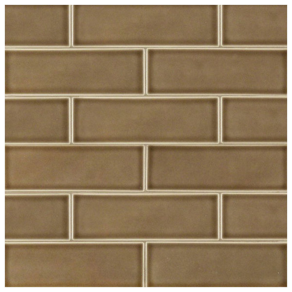 Artisan Taupe Glazed 4 Quot X12 Quot Handcrafted Subway Tile