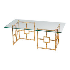 Gold GlassTop Coffee Tables Houzz
