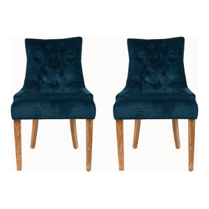 Safavieh Elise Dining Chairs, Set of 2, Navy