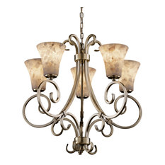 Justice Design Alr-8570-20 Victoria 5-Uplight Chandelier-LED