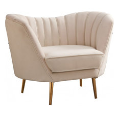 Margo Velvet Chair, Cream