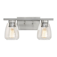 industrial lighting bathroom. millennium lighting incorporated 2light vanity light satin nickel clear industrial bathroom i