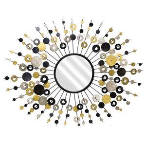 EMDE Pasti Soleil Mirror, Gold, Silver and Black