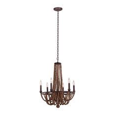 Kalco Lighting Beechwood 6-Light Chandelier, Royal Mahogany