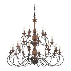 Quoizel Auburn Foyer Piece ABN5024RK - Rustic Black