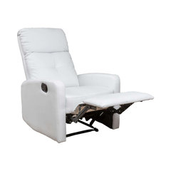Bon Teyana White Leather Recliner Club Chair. Contemporary Recliner Chairs