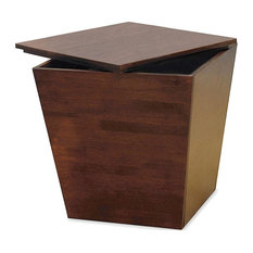 Winsome Tapereda Storage End Table in Antique Walnut Beechwood