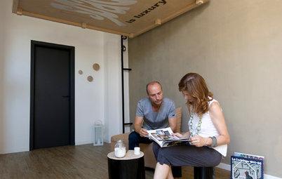 Casas Houzz: El piso de 25 metros en la playa de una familia de 4