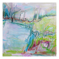 """""""Cottage Country"""" Original Abstract Painting by Trixie Pitts, 36""""x36"""""""