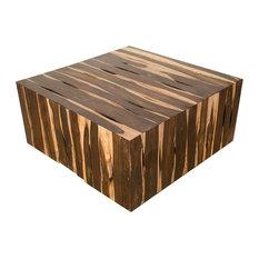 39-inch Wide Coffee Table Rosewood Deep Red & Brown Wood Grain Patterns Strip Amber