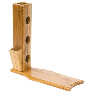 Modern Free-Standing Wine Rack, Bamboo Wood