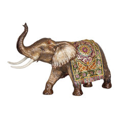 Duke Grand Tapestry Elephant Figurine Brocade Finish