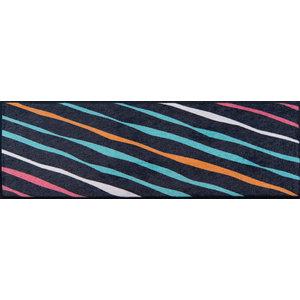 Easy Clean Diagonal Stripes Doormat, Large