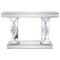 Elegant MF92019 47 Inch Rectangle Crystal Console Table Clear Royal Cut Crystal