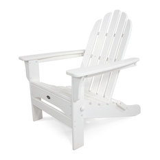 Trex Outdoor Furniture Cape Cod Folding Adirondack, Classic White