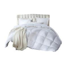 Egyptian Bedding - Luxurious Siberian Goose Down Comforter 1200 Thread Count 750FP, Queen - Comforters and Comforter Sets