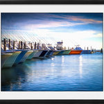 """Canvas Art Plus - Fishing on the Atlantic Framed Art, 24""""x18"""", Fine Art Canvas - General Features"""