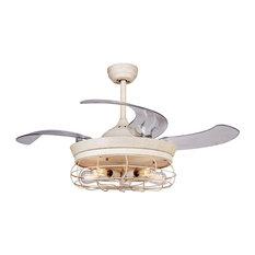 Folding ceiling fans houzz flint garden inc industrial ceiling fan with light retractable blades ceiling fans aloadofball Gallery