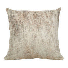 Light Brindle Birch Cowhide Pillows Standard, 18x18""