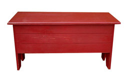 Wooden Storage Bench, Old Red