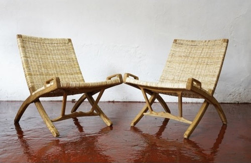 Lovely Teak And Cane Easy Chair   Outdoor Folding Chairs
