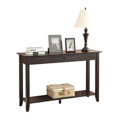 Convenience Concepts   American Heritage Console Table With Drawer, Black    Console Tables