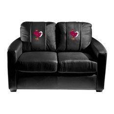Virginia Tech Hokies Collegiate Silver Love Seat With Stand Logo