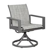 Okada Gray Sling Swivel Chair Set of 2
