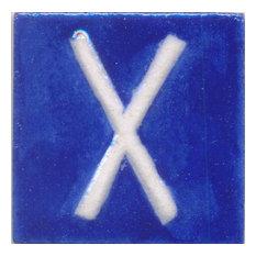 "Ceramic Tiles 2""x 2"", ""x, Set of 5 Tiles"