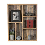 Reclaimed Wood Wall Cubby Farmhouse Display And Wall