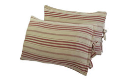 Red Beach Style Decorative Pillows - Red Stripe Pillows