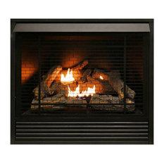 Duluth Forge Dual Fuel Ventless Fireplace Insert 32k BTU w/Remote  FDI32R