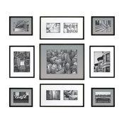 Gallery Perfect 9-Piece Frame Set, Black