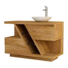 Diagonal Bathroom Vanity Unit, 120 cm