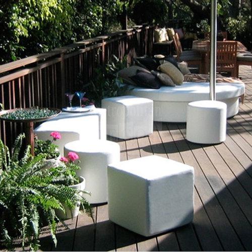 Wonderful Dot Cube Ottoman | La Fete Design   Outdoor Footstools And Ottomans