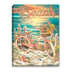Beach Cruiser Illuminated Wall Art