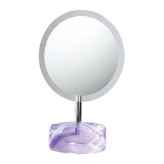 Magnifying Mirror With Round Colored Base, Lilac