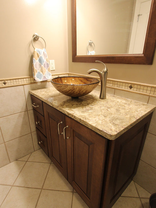 Guest bath cabinet countertop with vessel sink medina oh for 0 kitchens and bathrooms