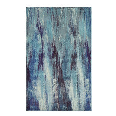 Unique Loom Jardin Lilly Area Rug, Blue, 5'x8'