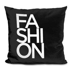 Fashion Font Decorative Accent Throw Pillow