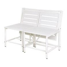 White Convertible Bench