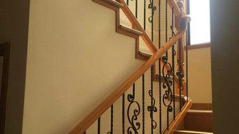 Custom Swirl design stairway balustrade
