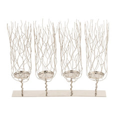 """GwG Outlet Stainless Steel Candle Holder, 19""""x15"""""""