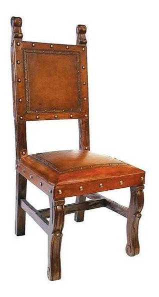 armless leather chairs. Spanish Heritage Armless Leather Dining Chair (Antique Brown) Chairs F