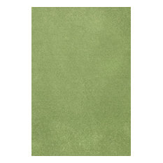 Color World Collection Way Solid Color Area Rug, Lime Green, 12'x18'