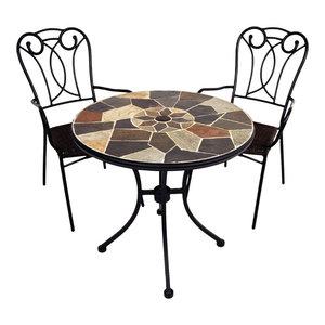 Pompeii Bistro Table With Verona Chairs, 3-Piece Set