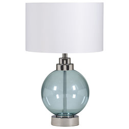 Superb Contemporary Lamp Sets Reece Set of Table Lamps Blue