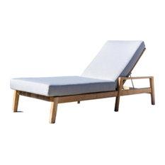 Mesa Teak Outdoor Chaise Lounger